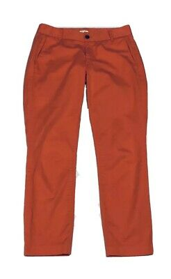 J. Crew Factory Frankie Size 4 Womens Coral Stretch Chino Ankle Pants