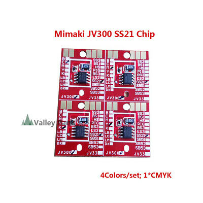 Chip Permanent for Mimaki JV300 / JV150 SS21 Cartridge 4 Colors CMYK -4pcs/set