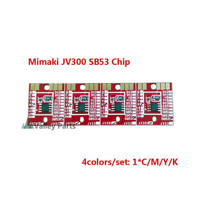 Chips Permanent for Mimaki JV300 /JV150 SB53 Ink Cartridge 4 Colors CMYK- 4pcs