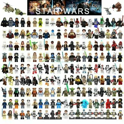 Lego Star Wars Luke Skywalker Darth Vader Obi-Wan Jawa Leia Clone Minifigures