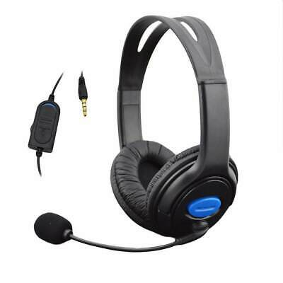 Headphones with Mic for PS4 Sony Play Station 4/PC Stereo Wired Gaming UK Seller