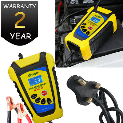 Car Battery Charger Heavy Duty 6V 12V 24V Trickle / Fast, 200AH Vehicle 2A 3A 6A