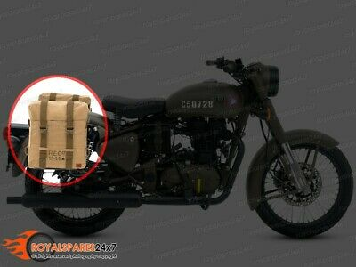 Royal Enfield Classic 350cc 500cc Pannier Military Pair Set with Fitting Frame