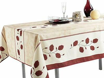 "Shabby Chic French Country Style Red Floral Patterned 60""x80"" Tablecloth"