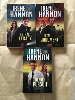 Lot 3 Irene Hannon Guardians of Justice Series Paperback Read Once