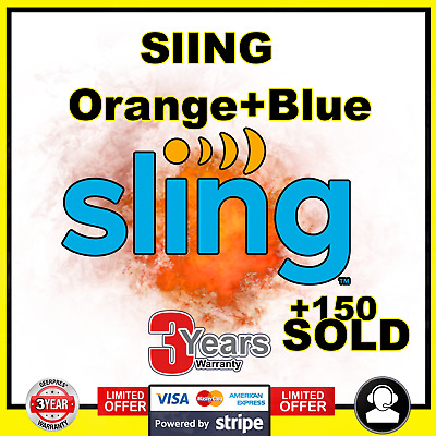 SlingTV | Orange + Blue + Extra add-on | 1 year Warranty 🔥 LIVE SUPPORT