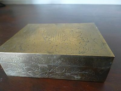 Superb Greant vintage chinese brass container / box ca. 1920 [Y8-W6-A9]