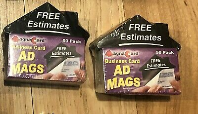 100 Magna Card Peel-and-Stick Business Card Advertising Magnets Realtors(RARE)