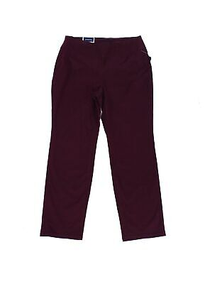 Charter Club Womens Pants Purple Size 14W Plus Slim-Leg Pull-On Stretch $69- 214