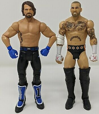 WWE AJ STYLES SERIES 76 ACTION FIGURE  SMACKDOWN LIVE  BENT CARD