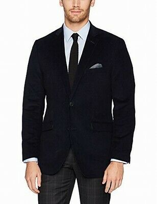 Designer Brand Mens Suit Separate Blue Size 44 Two Button Corduroy $80 #657