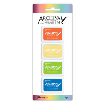 Ranger Archival Mini Ink Pads Sets - 1, 2, 3, 4, Archival Cleaner