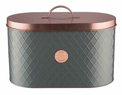 Henrik Bread Bin with Copper Lid Industrial Style Design Coated Steel