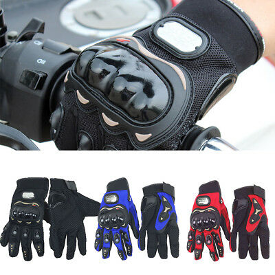 Thermal Motorbike Motorcycle Gloves Carbon Knuckle Protection UK