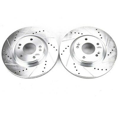 JBR1710XPR Powerstop 2-Wheel Set Brake Discs Front Driver & Passenger Side New