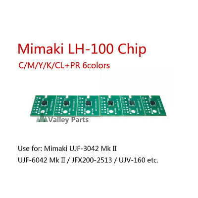 6Color Mimaki LH100 One-time Chip for UJF-3042MkII C/M/Y/K/CL(LH-100)+PR(PR-200)