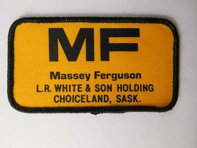 Vintage Massey Ferguson Embroidered Patch black /& yellow 3 by 2 inches
