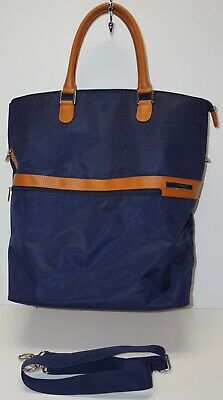 SAMSONITE Carry-On Travel Bag Luggage ~ Large - lots of room!  Blue & Golden Tan
