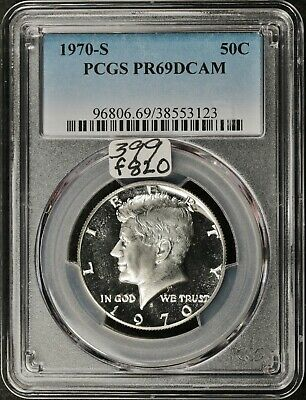 "1993-S PROOF PCGS-69 DEEP CAMEO KENNEDY HALF DOLLAR /""NEW SCRATCH FREE HOLDER/"""