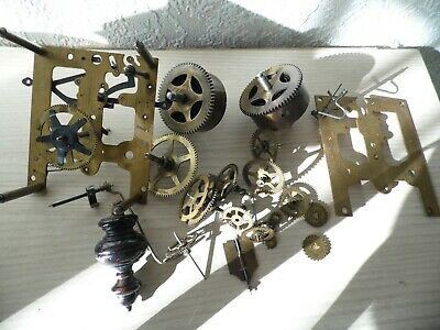 Clock  Parts  ,Large  Lot  Of  Clock  Parts