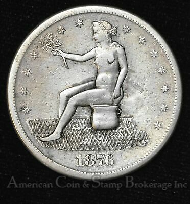 $1 One Dollar 1876 S Trade Silver Potty Dollar Well Done