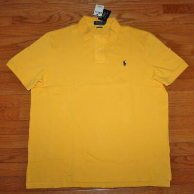 NWT Mens Polo Ralph Lauren Classic Fit Polo Shirt Pony Logo Gold Yellow $79 *6P