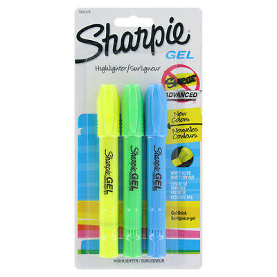 Sharpie Gel Highlighter, Assorted Colors, 3-Count