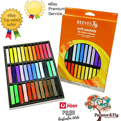 Reeves Soft Pastels - 24 or 36 Piece Sets - Strong Vibrant Colours, Lightfast