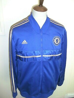 Adidas Chelsea Football Tracksuit Top Size Xl Blue