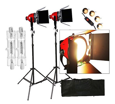 Dimmable Redhead 800W Studio Continuous Flood Spot Light Tungsten Stand Kit UK