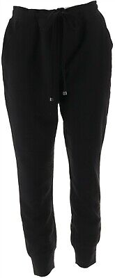 Isaac Mizrahi SOHO Space Dye Cargo Jogger Pants Black M NEW A305203