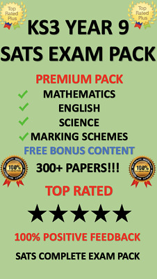 Year 9 Sats Ks3 200+ Test Papers Maths English Science + Answers *Download