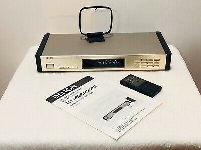 Denon TU - 490RG AM and Stereo FM Tuner with User Manual and Remote