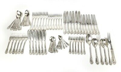 Silver сutlery set for 6 persons, 72 items.  Portugal, workshop Topazio.