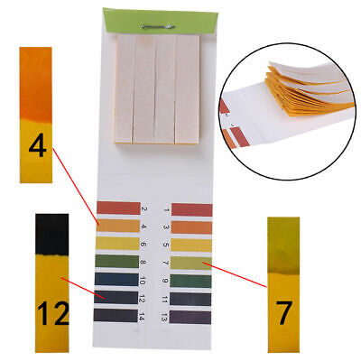 80 Strips Full pH 1-14 Test Paper Litmus Testing URINE SALIVA TESTER SCALE H10
