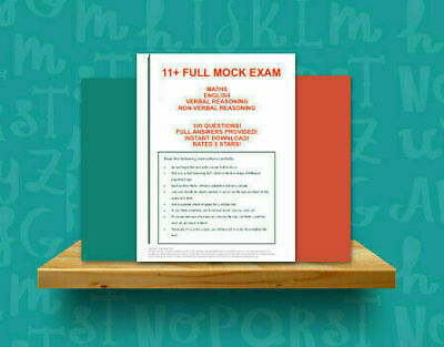 11+ Eleven Plus FULL Mock Exam (Maths,English, VR & NVR) -100 Questions Answers