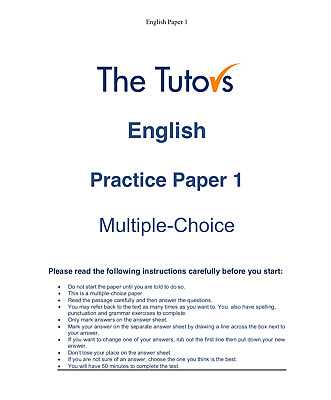 11+ Plus English Mock Tests - 7 Complete Test Papers with Answers Download