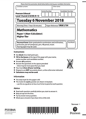 Edexcel GCSE Maths Past Papers Higher & Foundation & Answers - 200+ Download