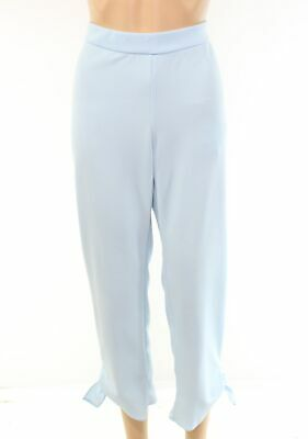 Alfani Women's Pants  Blue Size 12 Tie-Cuff Pull-On Cropped Stretch $59 #100