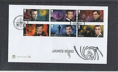 GB 2020 James Bond Stuart FDC First Day Cover Lydd Romney Marsh special pmk