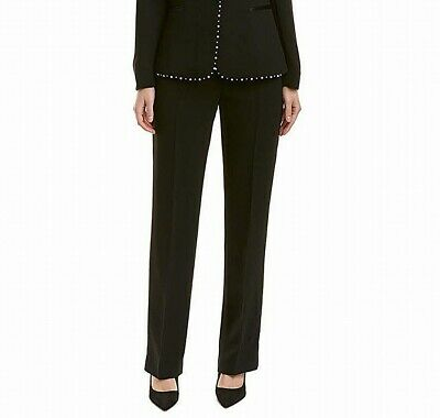 Tahari by ASL Womens Pants Black Size 16 Dress Mid-Rise Bootcut Leg $99 307