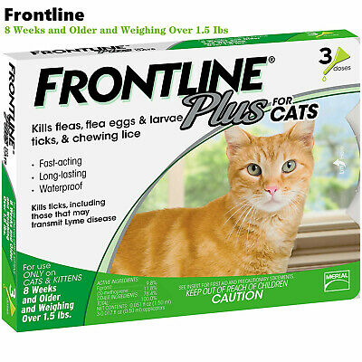 Frontline Plus For Cats & Kittens Flea and Tick Control and Treatment ,3 Doses