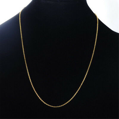 Real Classic Gold Plated Stainless Steel 49.8cm Rope Chain Necklace Men Women~