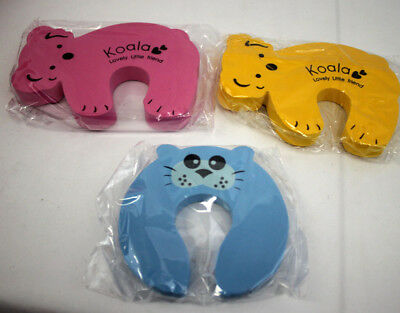 3 Cartoon ANIMAL Baby Toddler PROOFING Finger Safety Guard Foam Door Stoppers 3