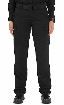 5.11 Tactical Womens Pants Deep Black Size 12 Ripstop TDU Work Cargo $60 375
