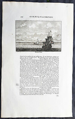 1711 Cornelius De Bruyn Antique Print of Mydregt & Adams Peak Sri Pada Sri Lanka