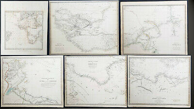 1832 - 1840 SDUK 6 x Antique Maps of Africa, countries & regions