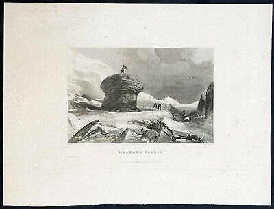 1834 Sir John Ross Antique Print Magnetic North on King William Island, Canada