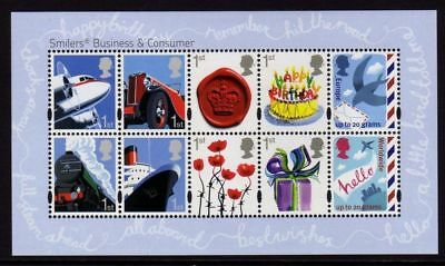 GB 2010 Commemorative Stamps~Business Smilers~M/S~Unmounted Mint Set~UK
