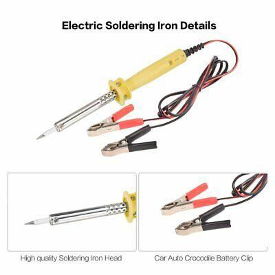12V DC 60W Car Auto Crocodile Battery Clip Powered Electric Soldering Iron GH